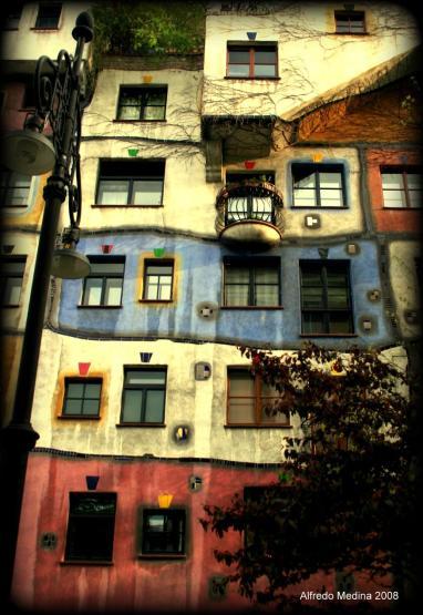 Hundertwasserhaus, calle Kegelgasse (Viena) AUSTRIA
