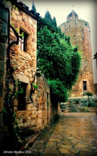 Torre de las Horas (Pals) Girona. ESPAÑA